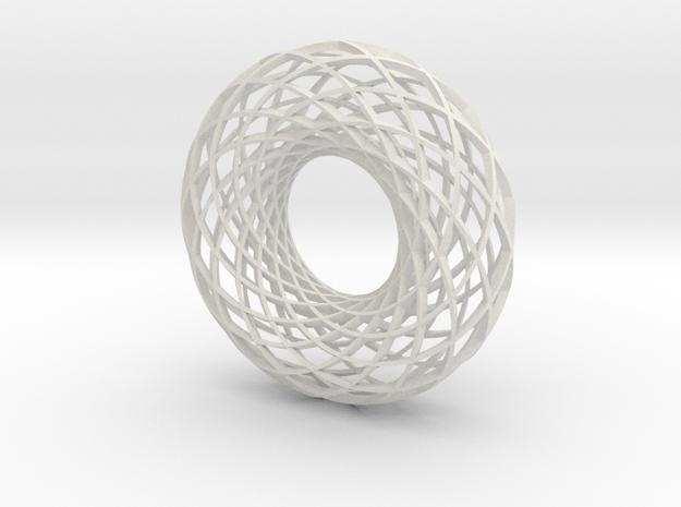 Twisted strip torus,large in White Natural Versatile Plastic