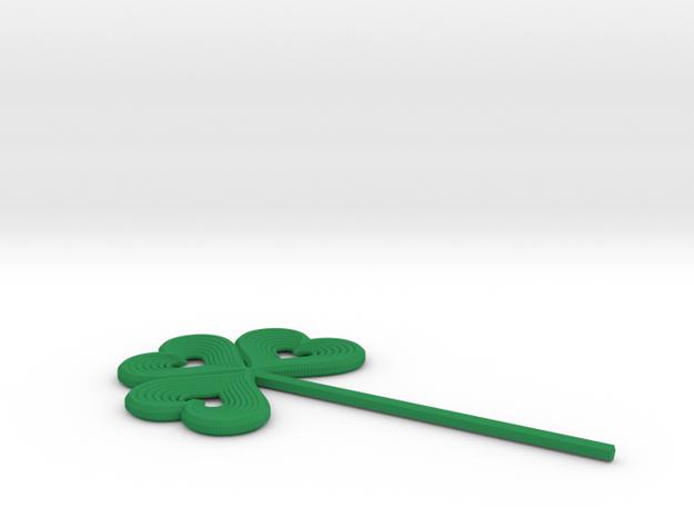 Shamrock Stick Pin Post in Green Processed Versatile Plastic