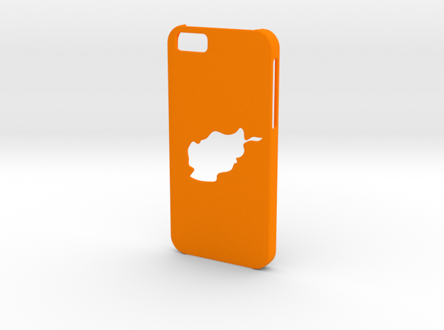 Iphone 6 Afghanistan Case in Orange Strong & Flexible Polished