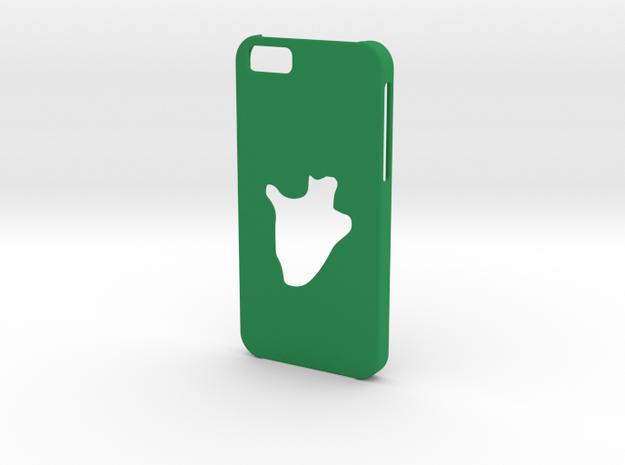 Iphone 6 Burundi Case in Green Processed Versatile Plastic
