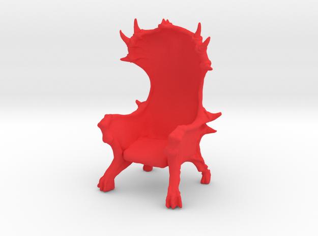 Devil Chair in Red Processed Versatile Plastic