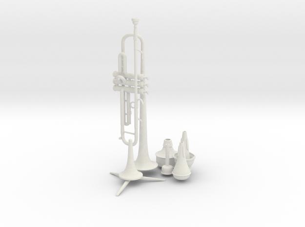 Michael's Mini Trumpet (Complete Set) in White Natural Versatile Plastic