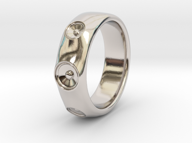 Laurane - Ring - US 9 - 19mm inside diameter in Rhodium Plated Brass: 9 / 59