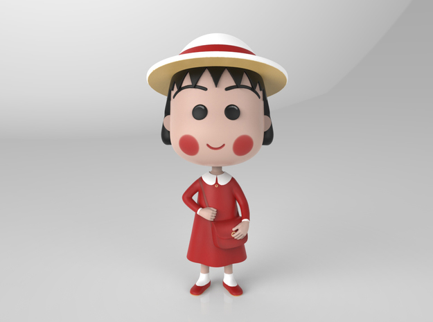 Maruko Chan Red Dress in Full Color Sandstone