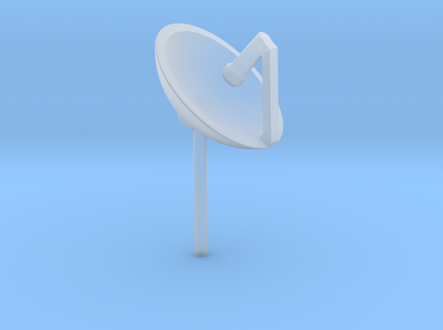 Satellite Dish 'O' 48:1 Scale in Smooth Fine Detail Plastic