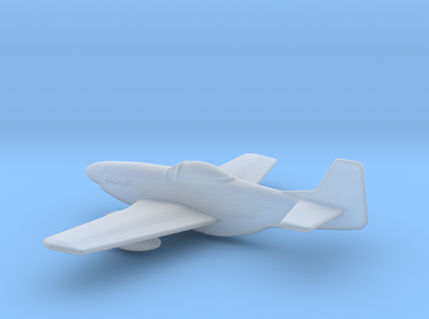 P51 Mustang 1 To 400 in Smooth Fine Detail Plastic