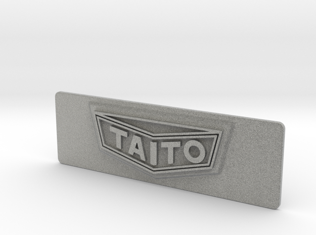"""Taito """"Classic"""" styled Coin Door Tag in Metallic Plastic"""