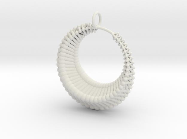 Luna1 pendant in White Natural Versatile Plastic