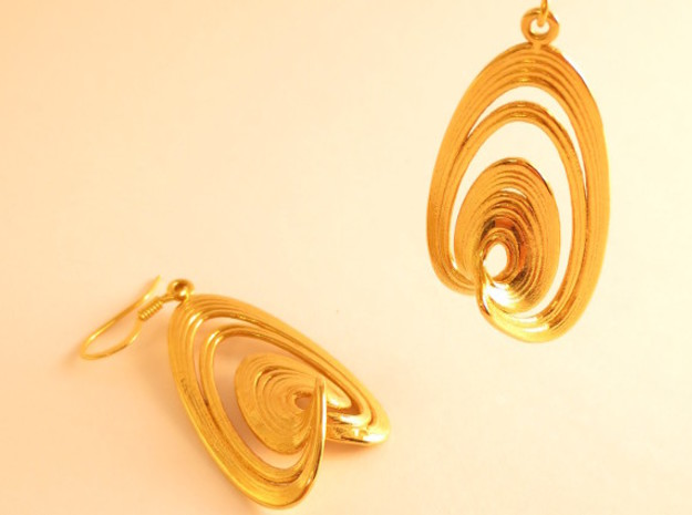 Sprott Linz R Earrings Pair in 18K Gold Plated