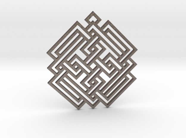 Celtic Knot / Nudo Celta in Polished Bronzed Silver Steel