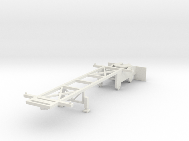 000061 Container Trailer USA HO 1:87 in White Natural Versatile Plastic