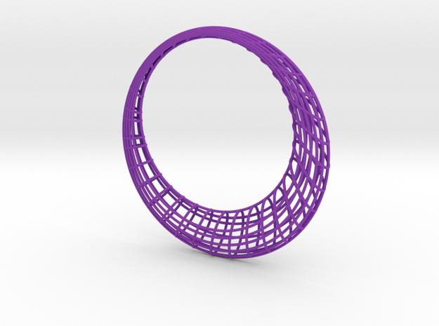 Elliptic mesh Bracelet in Purple Processed Versatile Plastic