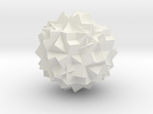 13 Cube Compound small in White Natural Versatile Plastic