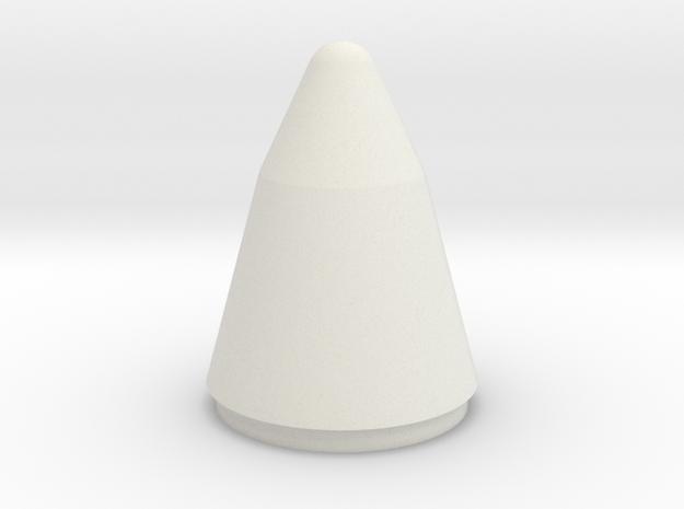 Titan IV Nose Cone 1:48 in White Natural Versatile Plastic