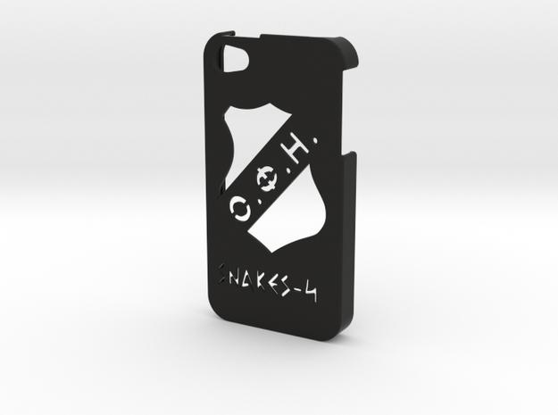 Iphone 4/4s OFI case in Black Natural Versatile Plastic