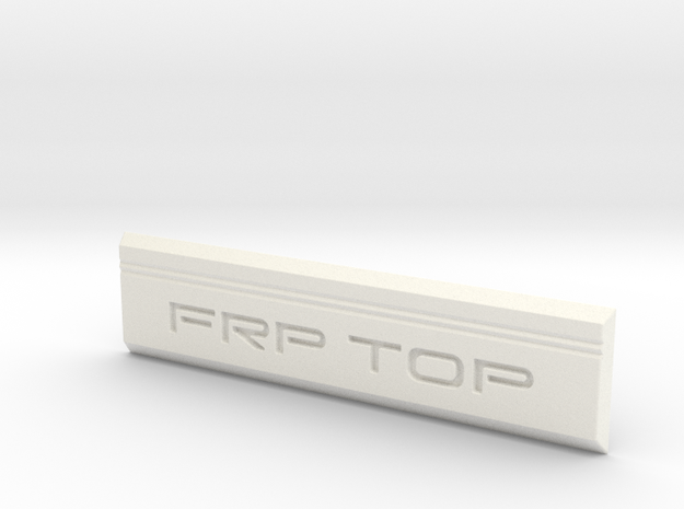 70-Series Landcruiser FRPTOP Badge in White Strong & Flexible Polished