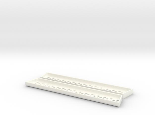 VW T5 California - Shelf for side shutter (small) in White Strong & Flexible Polished