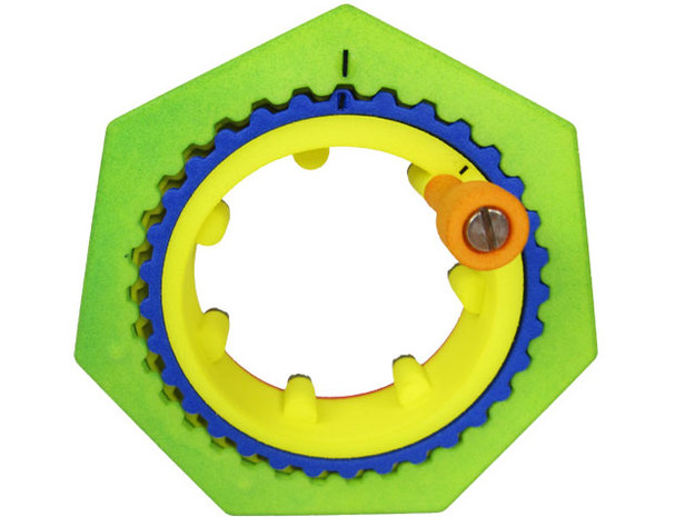 Ultimate Reduction - a billion to one gearing in White Processed Versatile Plastic