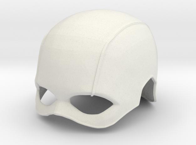 Captain America TFA Helmet in White Strong & Flexible