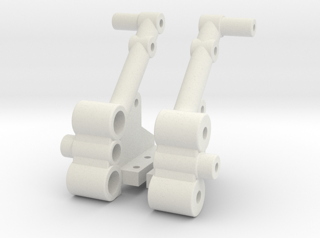 vintage style Tamiya SRB buggy shock towers in White Natural Versatile Plastic