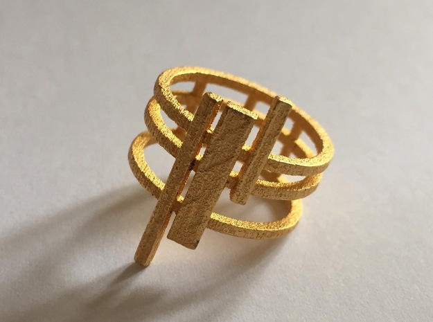 Triptyque (Size: small: 4) in Polished Gold Steel