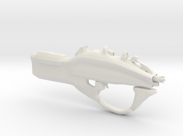 The borderlands 2 SMG Maliwan  in White Natural Versatile Plastic