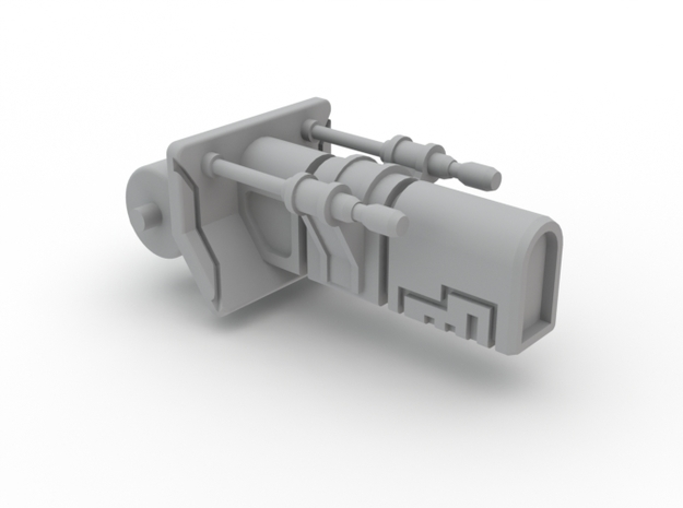 Turret Ion Cannon  in White Processed Versatile Plastic