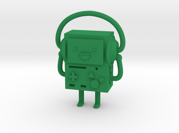 BMO with headphones in Green Processed Versatile Plastic