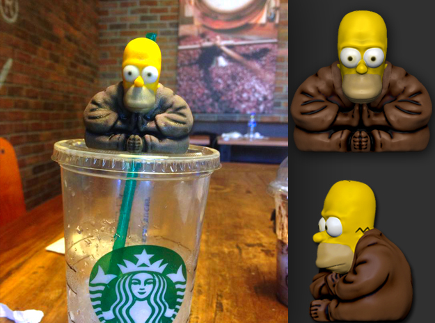 Homer Simpsons Buddha :D in Full Color Sandstone