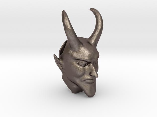 Devil in Polished Bronzed Silver Steel