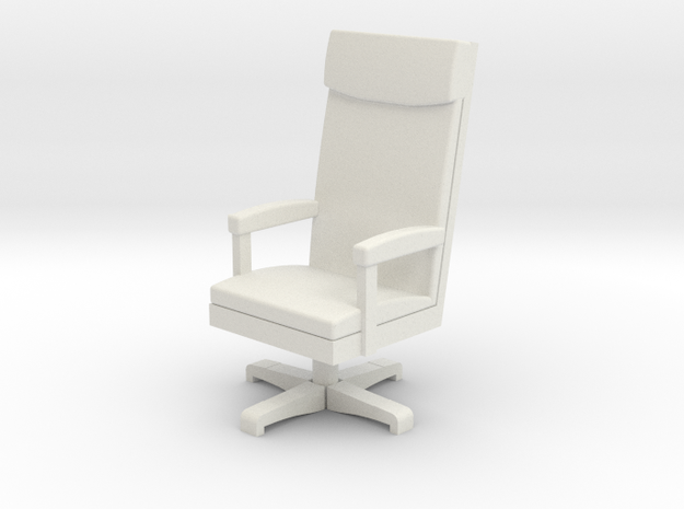 Miniature 1:48 LBJ Presidential Chair in White Natural Versatile Plastic