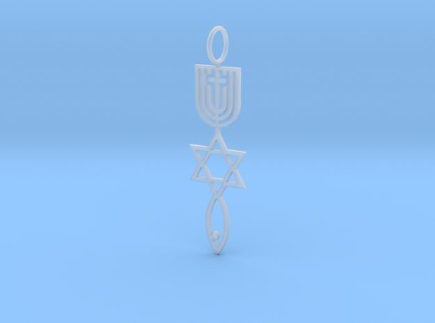 MessianicSealOfJerusalem Plain in Smooth Fine Detail Plastic