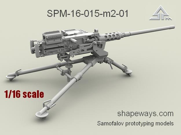 1/16 SPM-16-015-M2-01 Browning M2 cal.50 in Frosted Extreme Detail