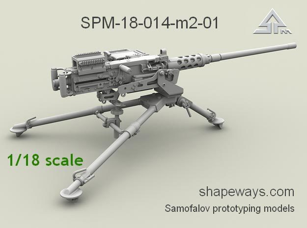 1/18 SPM-18-014-M2-01 Browning M2 cal.50 in Smoothest Fine Detail Plastic