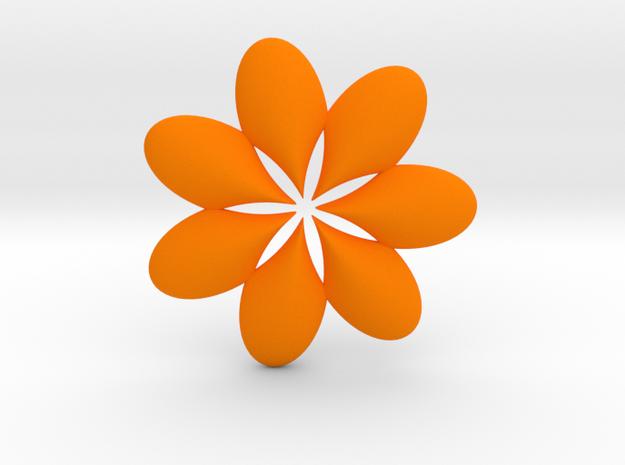 0295 AntisymmetricTorus (p=6.0) 3cm #015 in Orange Processed Versatile Plastic