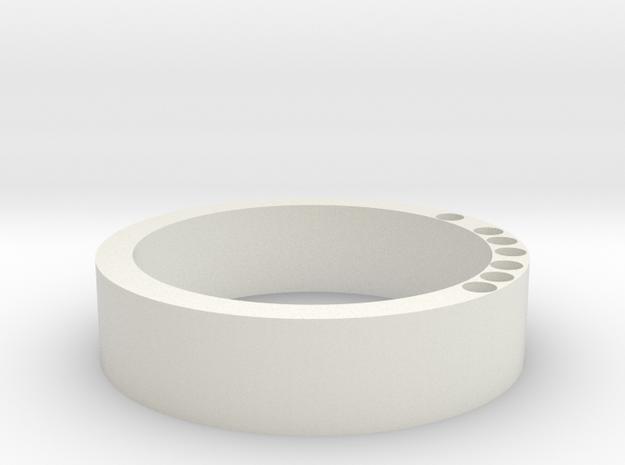 Swiss Cheese Keyring  in White Natural Versatile Plastic
