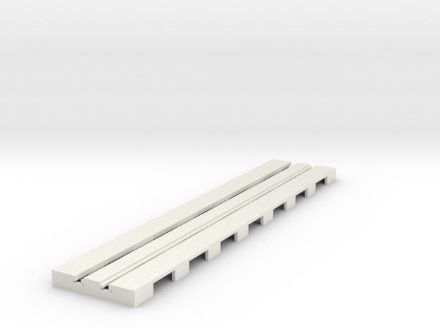 P-65stp-straight-long-110-75-pl-1a in White Natural Versatile Plastic