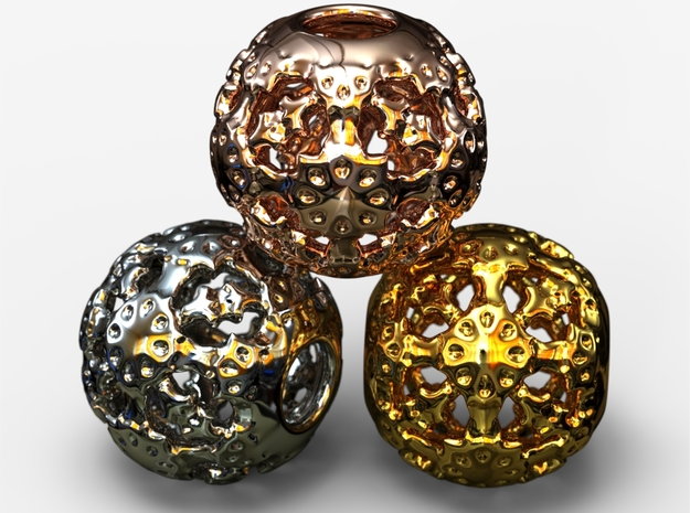 PA Ball V1 D14Se4937 in 18k Gold Plated Brass