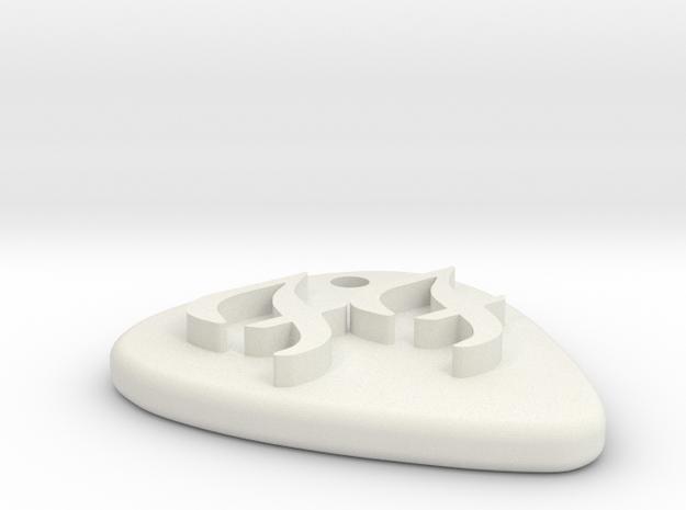 GuitarPick FooFighters in White Natural Versatile Plastic