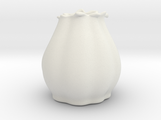 Flower Vase in White Natural Versatile Plastic