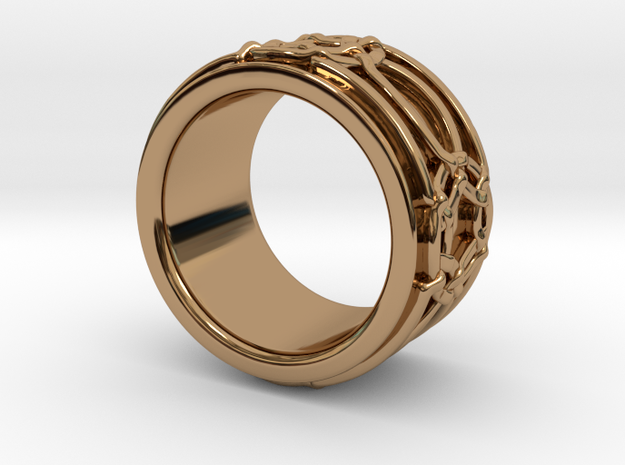 Celtic Knot Ring in Polished Brass