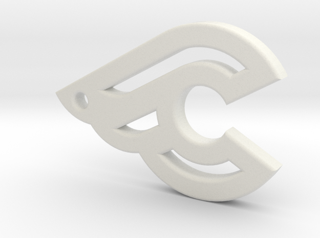 Cinelli keychain in White Natural Versatile Plastic