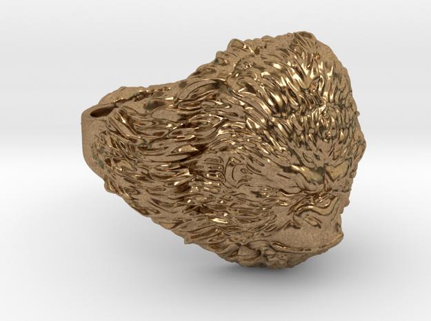 Gorilla Ring in Natural Brass