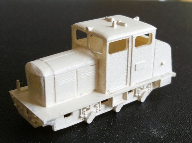 Locotracteur 62 Nm 1:160 3d printed front of model with primer