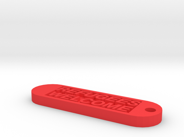 Keychain 10€ donate in Red Processed Versatile Plastic