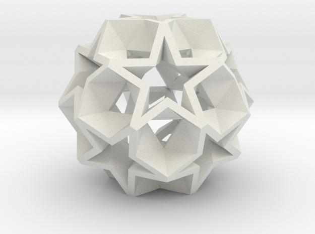 12 Star Ball - 2.2 cm in White Strong & Flexible