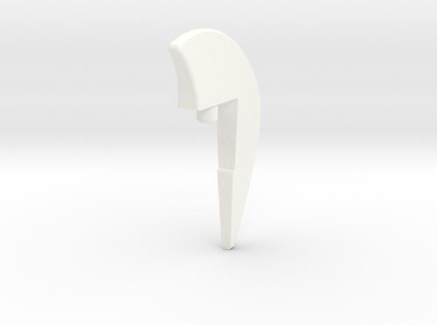 Tiger Fin1 in White Processed Versatile Plastic