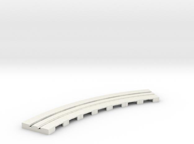 P-65stp-curve-tram-long-145r-75-pl-1a in White Natural Versatile Plastic