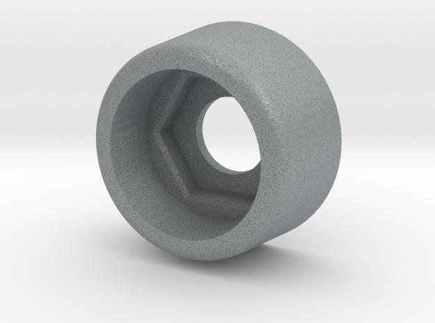 Kniter CO 607 S Cover Black Plastic in Polished Metallic Plastic
