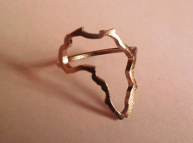 Africa Ring size 7.5/P in Natural Bronze